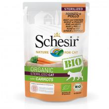 Schesir Bio Sterilized- hovädzie a kuracie s mrkvou 85g Agras Delic - 1