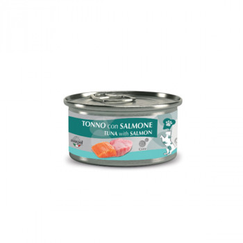 Chef Cat Adult Sterilized - Tuniak filety a losos 80g Marpet - 1