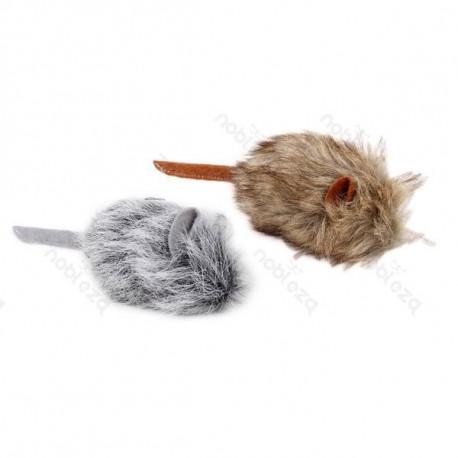Hračka pre mačku Nobleza - Myš s kožušinkou 15cm Nobleza - 1