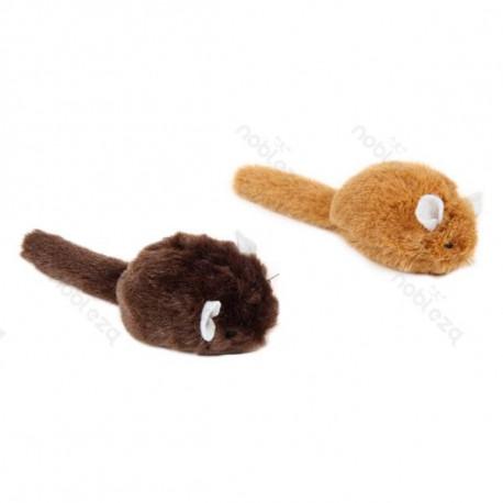 Hračka pre mačku Nobleza - Hebká myš 12cm Nobleza - 1