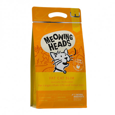 MEOWING HEADS Fat Cat Slim 1,5kg Meowing Heads - 1