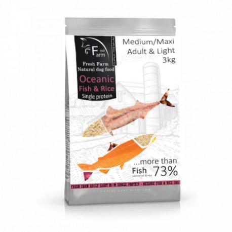 Fresh Farm Adult&Light Medium/Maxi - Oceanic Fish 3kg Fresh Farm - 1