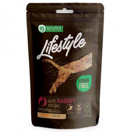 Nature's Protection Lifestyle snacks for cats - Králičie pásiky 75g Nature´s Protection - 1