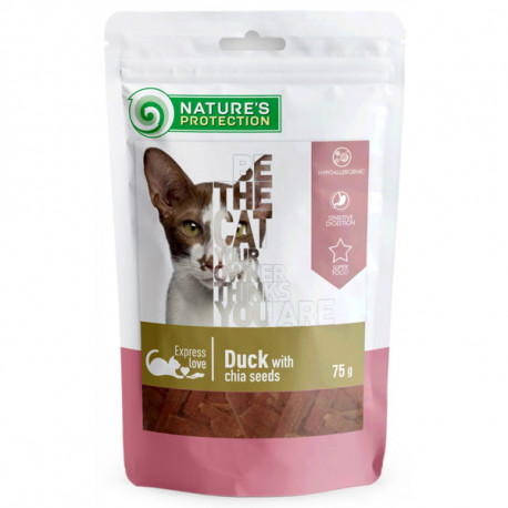 Nature's Protection snacks for cats - Kačacie kúsky s chia 75g Nature´s Protection - 1