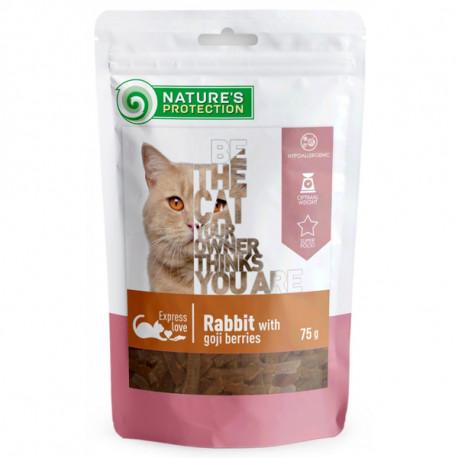 Nature's Protection snacks for cats - Králičie kúsky s goji 75g Nature´s Protection - 1