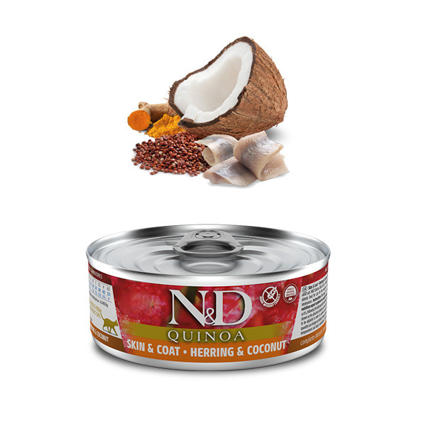 Farmina N&D cat QUINOA Herring & Coconut 80g Farmina N&D - 1