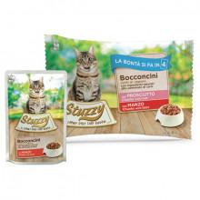 Stuzzy Cat Chunks Multipack hovädzie a bravčové kúsky 4x85g Agras Delic - 1