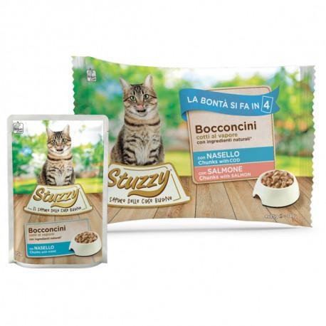 Stuzzy Cat Chunks Multipack treska a losos kúsky 4x85g Agras Delic - 1