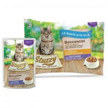 Stuzzy Cat Chunks Multipack Sterilized kuracie a morčacie kúsky 4x85g Agras Delic - 1