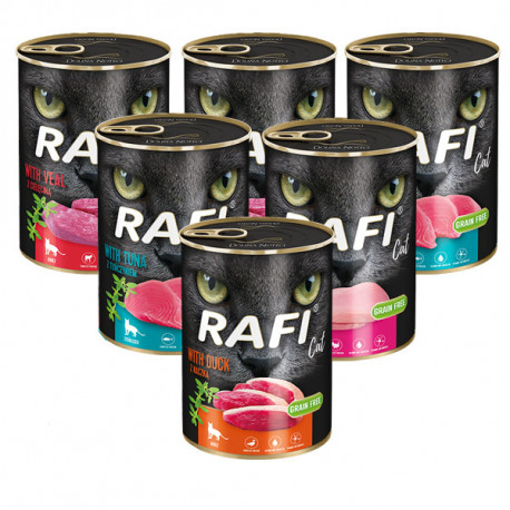 Rafi Cat Adult Grain Free Mix of flavours 6x400g DNP S.A. - 1
