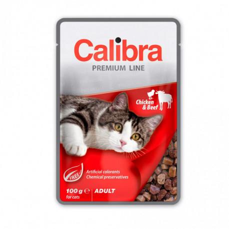 Calibra Cat Premium Adult Beef & Chicken 100g Calibra - 1