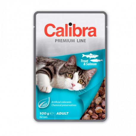 Calibra Cat Premium Adult Trout & Salmon 100g Calibra - 1