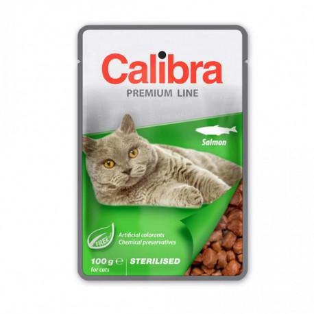 Calibra Cat Premium Sterilised Salmon 100g Calibra - 1