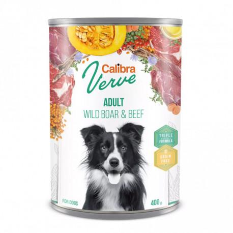 Calibra Dog Verve GF Adult Wild Boar&Beef 400g Calibra - 1