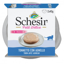 Schesir Cat Petit Delice Tuniak a jahňacie 2x40g Agras Delic - 1