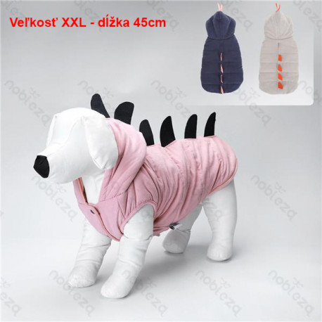 Bunda s kapucňou DINO pre psa Nobleza XXL 45cm Nobleza - 1