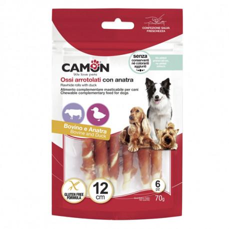 Camon Treats&Snacks Dog - Tyčinky z kože obalené kačacím mäsom 70g Camon - 2