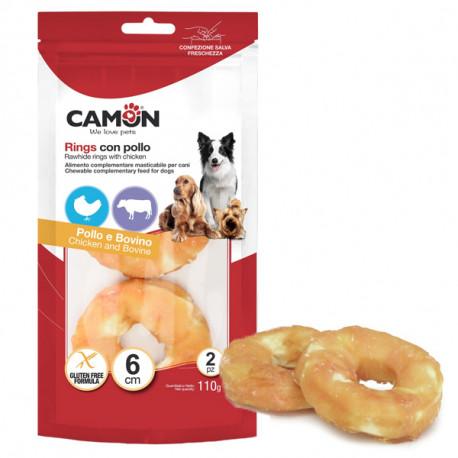 Camon Treats&Snacks Dog - Donuts z kože obalené kuracím mäsom 110g Camon - 1
