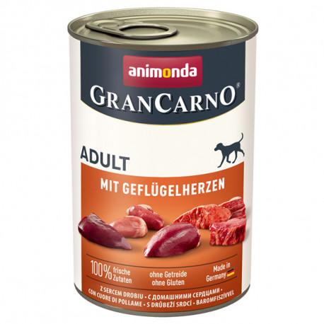 Animonda GranCarno Original Adult - Bravčové a hydinové srdcia 400g Animonda - 1