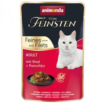 Animonda Vom Feinsten Adult Cat - Hovädzie a morčacie filety 85g Animonda - 1
