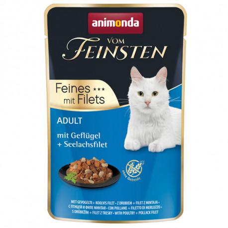 Animonda Vom Feinsten Adult Cat - Hydina a filety z tresky 85g Animonda - 1