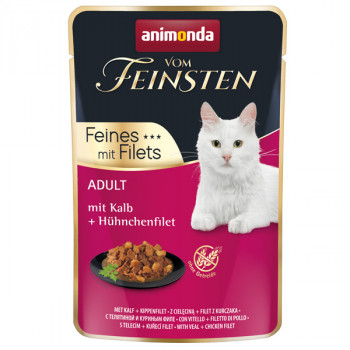 Animonda Vom Feinsten Adult Cat - Teľacie a kuracie filety 85g Animonda - 1