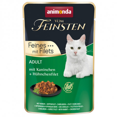 Animonda Vom Feinsten Adult Cat - Králik a kuracie filety 85g Animonda - 1