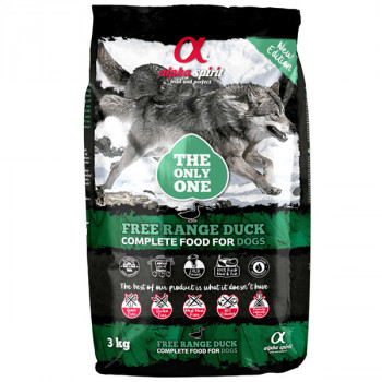 Alpha Spirit The Only One - Free Range Duck 3kg Alpha Spirit - 1