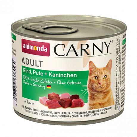 Carny Adult - Hovädzie, morka a králik 200g Animonda - 1