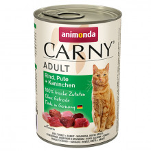 Carny Adult - Hovädzie, morka a králik 400g Animonda - 1