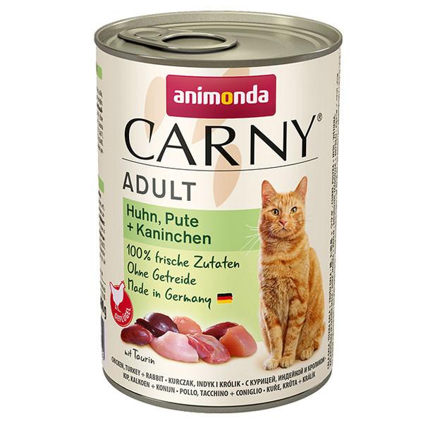 Carny Adult - Kura, morka a králik 400g Animonda - 1