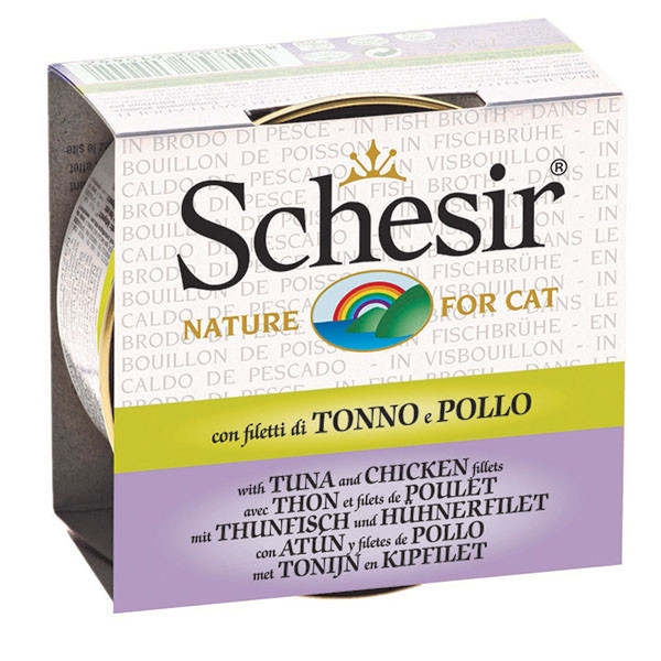 Schesir - Tuniak s kuracím vo vývare 70g Agras Delic - 1