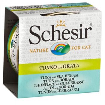 Schesir - Tuniak s pražmou vo vývare 70g Agras Delic - 1