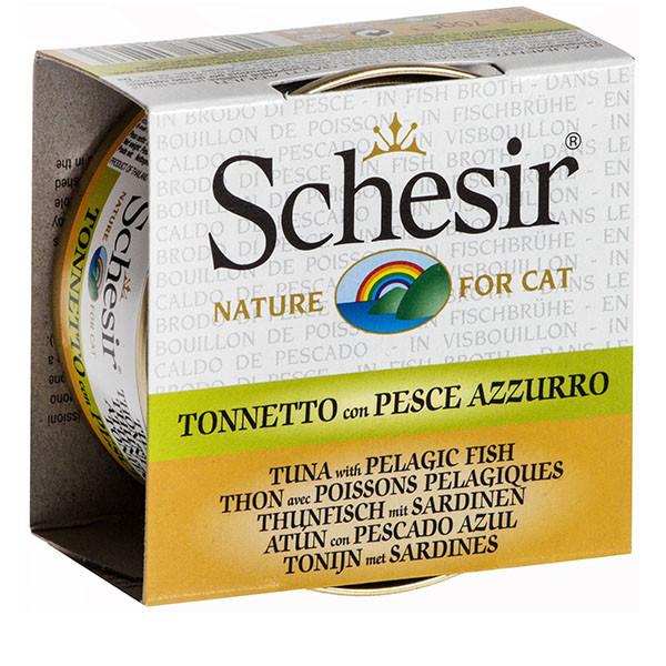 Schesir - Tuniak so sardinkami vo vývare 70g Agras Delic - 1