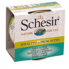 Schesir - Tuniak so šunkou vo vývare 70g Agras Delic - 1