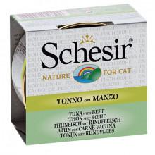 Schesir - Tuniak s hovädzím 70g Agras Delic - 1