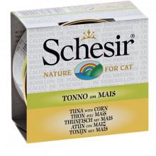 Schesir - Tuniak s kukuricou vo vývare 70g Agras Delic - 1