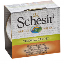 Schesir - Tuniak s mrkvou vo vývare 70g Agras Delic - 1