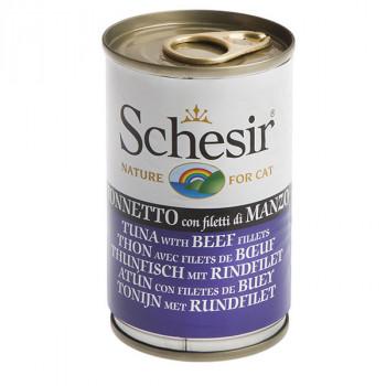 Schesir - Tuniak s hovädzím 140g Agras Delic - 1