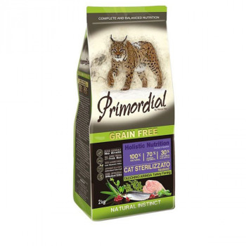Primordial GF Cat Sterilised - Morčacie so sleďom 2kg MisterPet - 1