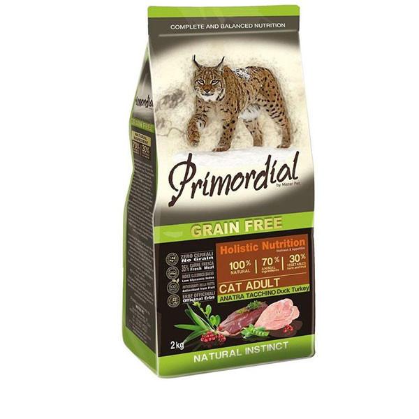 Primordial GF Cat Adult - Kačacie a morčacie 2kg MisterPet - 1